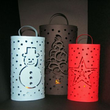 Christmas T-light Lanterns